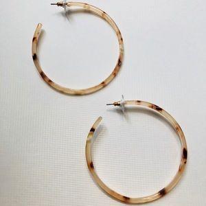 Jewelry - Lucite acrylic hoop earrings